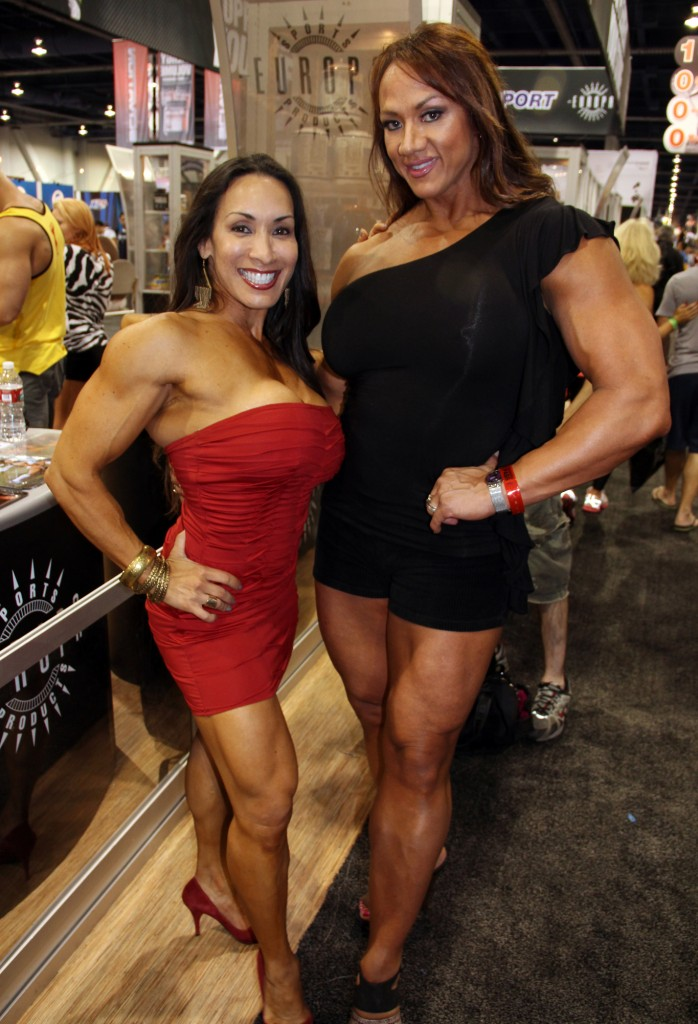 Denise Masino, Amber Deluca, Kathy Amazon at the 2012 Olympia Expo