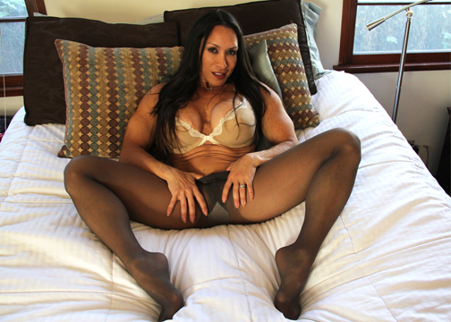 Denise Masino in her Pantyhose
