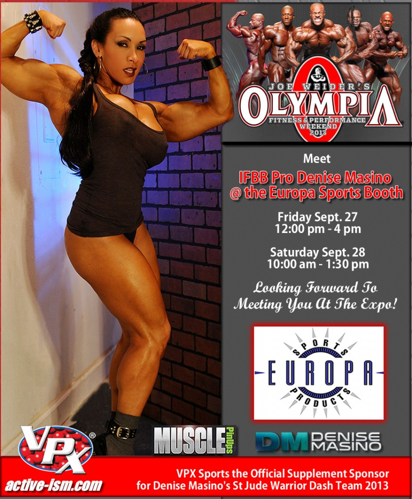 Denise Masino at the Olympia 2013 weekend