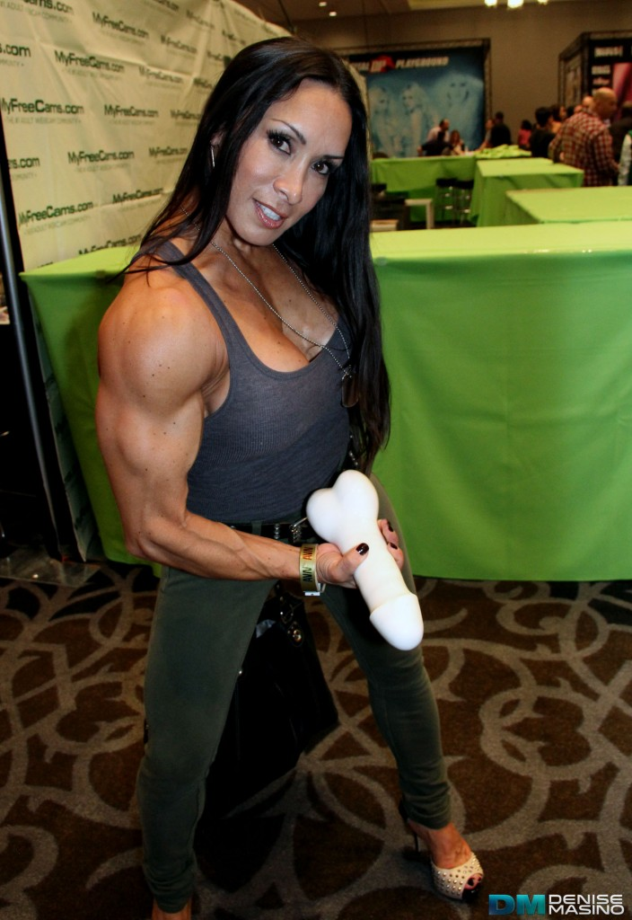 Denise Masino gets a pump!