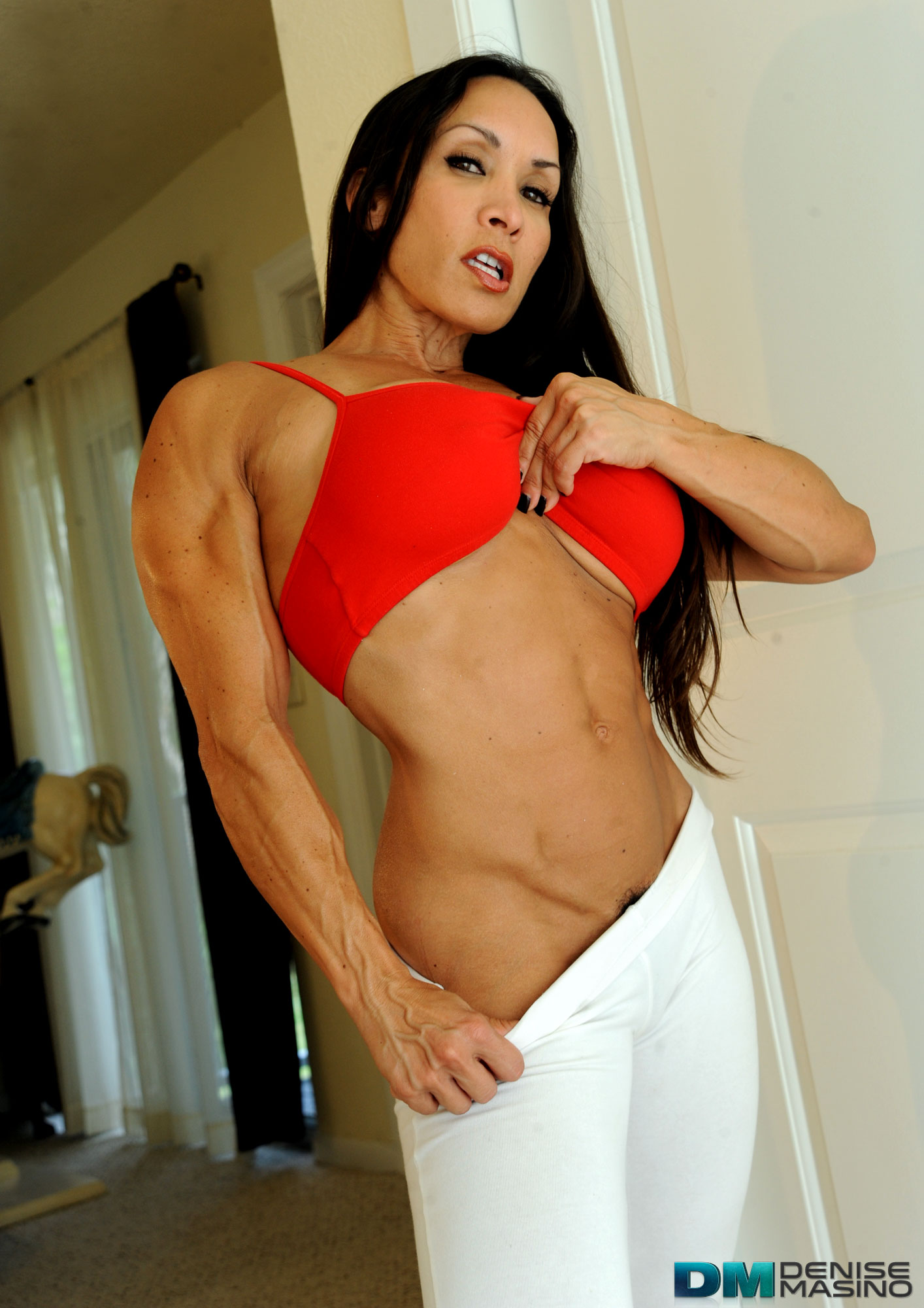 Denise Masino Bulging White Leggins