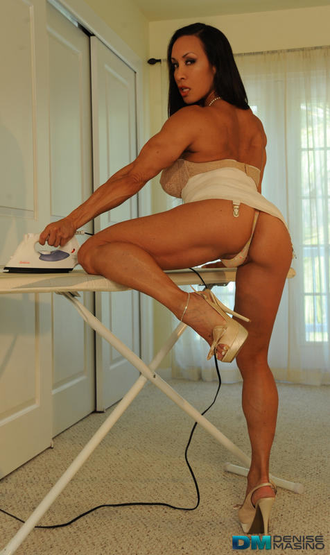 Denise Masino 50's Pinup with Muscle