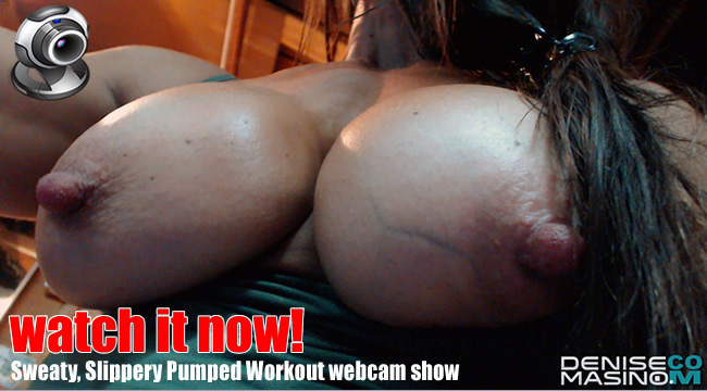 Denise Masino nude workout on webcam